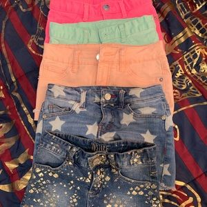 5 Justice shorts size 10 girls kids